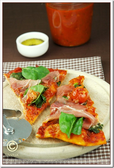 Pizza-Parma Spinach (01) by MeetaK