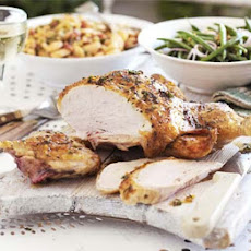 Herby lemon chicken with Tuscan beans