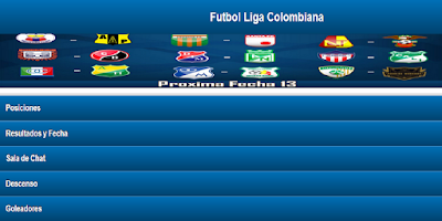 Screenshot of Liga Colombiana Postobon