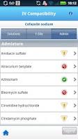 Screenshot of Micromedex IV Compatibility