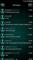 Screenshot of GO SMS Platinum Cyan Theme