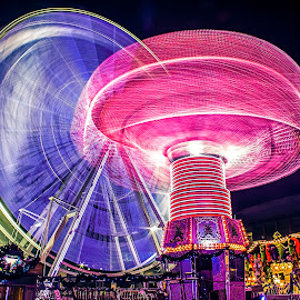 Market Circus by Tommy Loke - Abstract Light Painting ( colour, light painting, market, birmingham, united kingdom )
