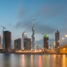Down Town by Walid Ahmad - Buildings & Architecture Bridges & Suspended Structures ( dubai, uae, photography, down town )