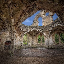 Waverley Abbey II by Graham Markham - Buildings & Architecture Decaying & Abandoned ( wavelly, uk, bracketed, farnham, hdr, surrey, ruins, %d, abbey, mkii )