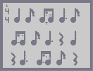Thumbnail of the map 'a sheet of music shit'