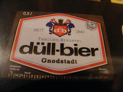 Label from a bottle of Dull Bier
