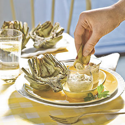 Grilled Fresh Artichokes