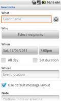 Screenshot of SMS Group Invite