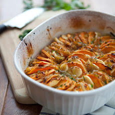Maple-Roasted Sweet Potatoes and Parsnips