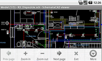 Screenshot of SchemataCAD viewer DWG/DXF