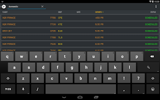 Screenshot of FlightBoard