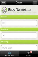 Screenshot of Baby Name Generator