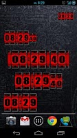 Screenshot of 3D Rolling Clock RED