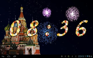 Screenshot of 2015 Fireworks Countdown LWP