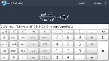 Screenshot of web2.0calc (free)