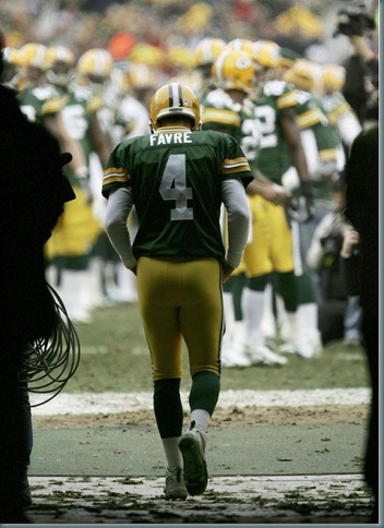 Favre walkin away