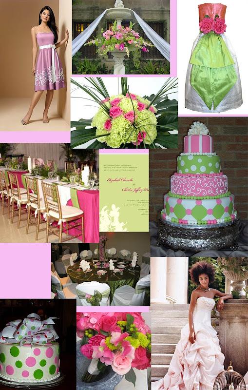 Weddingzilla Pink And Green Wedding Theme
