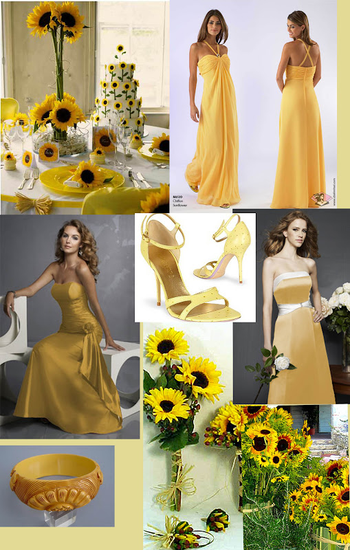 Sunglower Yellow Themed for Bridesmaid Dresses