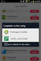 Screenshot of App Installer