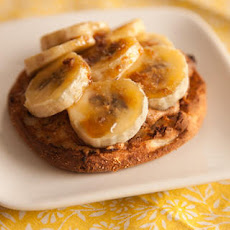 English Muffin with Bruléed Banana and Peanut Butter Recipe