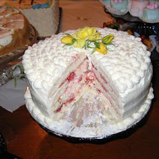Diabetic Spring Fling Layered White Cake