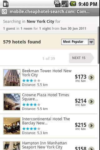 Cheap Hotel Search