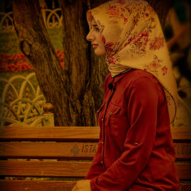 Istanbul. Alone. by Eugene Goldin - People Street & Candids ( girl, beauty, turkey, istanbul )