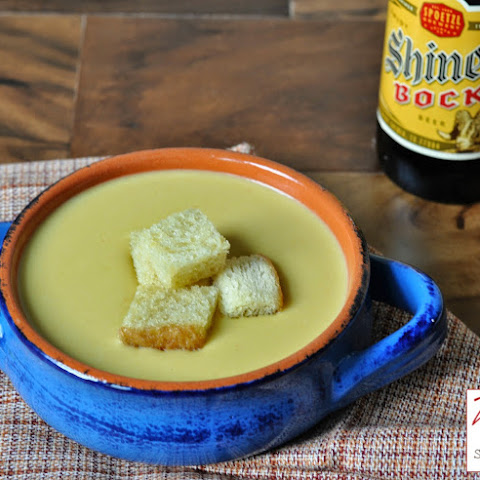 Shiner Bock and Cheddar Cheese Soup with Jalapenos