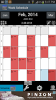 Screenshot of Work Schedule Calendar Free
