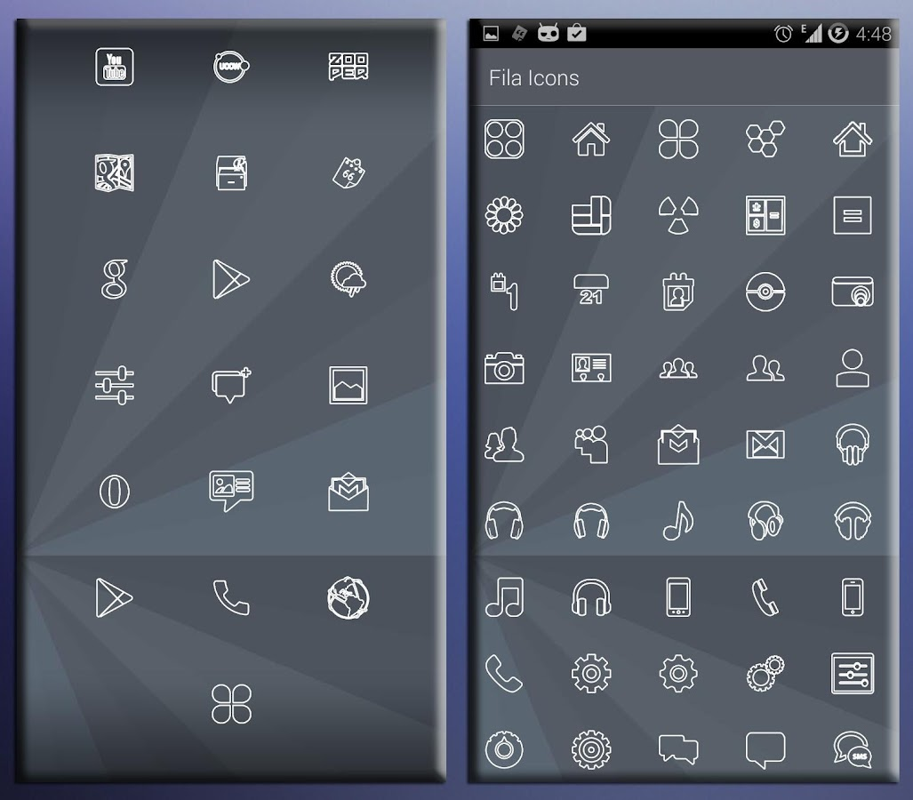 FILA ICONS APEX/NOVA/ADW/GO Screenshot 6