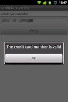 Screenshot of Credit Card Verifier