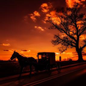 One More For the Road by Linda Karlin - Landscapes Sunsets & Sunrises ( nature, sunset, landscape )