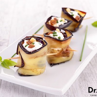 Eggplant Wrapped Goat Cheese