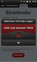 Screenshot of Bitdefender USSD Wipe Stopper