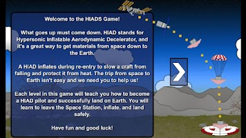 Screenshot of NASA HIAD