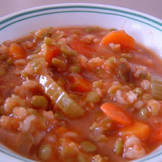 Easy Split Pea and Barley Stew