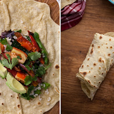 Spiced Zucchini + Rice Burrito with Homemade Einkorn Flour Tortillas (+giveaway)