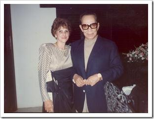 Cristina Rodríguez con Cantinflas