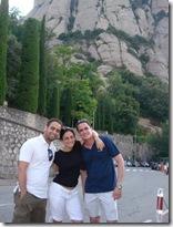 Higinio Jose, Carolina y Juan Manuel en Monserrat