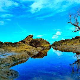 Low Tide by Lemuel Sobrepena - Landscapes Travel