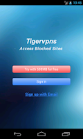 Screenshot of Tigervpns VPN Client