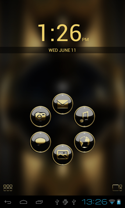 Smart Launcher theme b. gold Screenshot 1