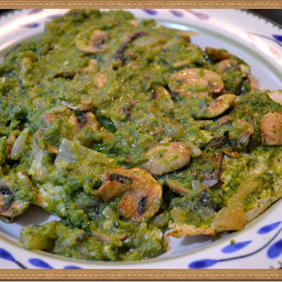 Chicken with Mushrooms and Poblano Sauce
