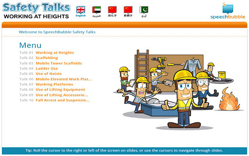 Safety Talks - Work Heights ME