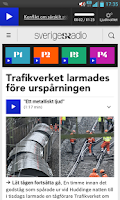 Screenshot of Sveriges Radio (bokmärkesapp)