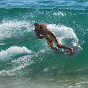 Will at the Wedge by Dennis McClintock - Sports & Fitness Surfing ( water sport challenge, surfing, water sports, sports, the wedge newport ca,  )