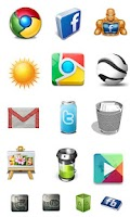 Screenshot of Free App Icons & Icon Packs ►