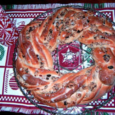 Cranberry-Almond Holiday Wreath Bread