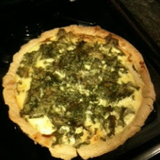 Caramelized Fennel, Goat Cheese & Mustard Green Tart