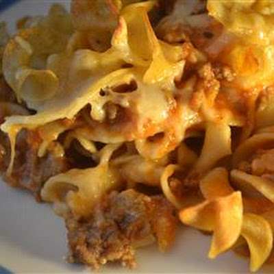 Swiss Cheese Noodle Bake